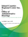 Inland Counties Regional Center Inc V Office Of Administrative Hearings