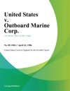 United States V Outboard Marine Corp