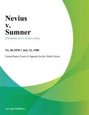 Download and Read Online Nevius v. Sumner