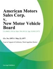 American Motors Sales Corp. V. New Motor Vehicle Board