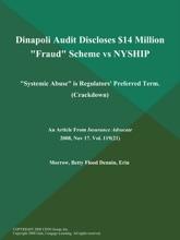 Dinapoli Audit Discloses $14 Million