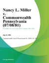Nancy L Miller V Commonwealth Pennsylvania