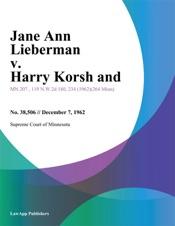 Jane Ann Lieberman v. Harry Korsh and