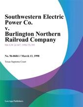 Southwestern Electric Power Co. V. Burlington Northern Railroad Company