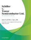 Schiller V Tower Semiconductor Ltd