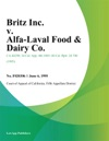 Britz Inc V Alfa-Laval Food  Dairy Co