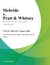Mcbride V. Pratt & Whitney