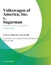 Volkswagen Of America Inc V Sugarman