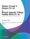 Matter Frank S Hunter Et Al V Board Appeals Village Saddle Rock Et Al