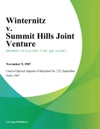 Winternitz V Summit Hills Joint Venture