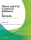 Mayor And City Council Of Baltimore V Borinsky