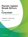 Parents Against Drunk Drivers V Graystone