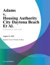 Adams V Housing Authority City Daytona Beach Et Al