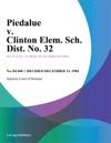 Piedalue V Clinton Elem Sch Dist No 32