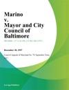 Marino V Mayor And City Council Of Baltimore