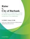 Raine V City Of Burbank
