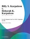 093094 Billy S Karpuleon V Deborah K Karpuleon