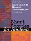 A Study Guide For Sakis Aka H H Munros InterlopersThe