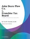 John Deere Plow Co V Franchise Tax Board