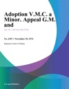 Adoption VMC A Minor Appeal GM And