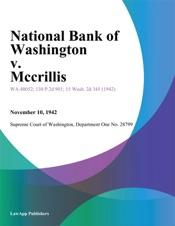 Download National Bank Of Washington V. Mccrillis