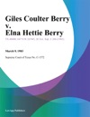 Giles Coulter Berry V Elna Hettie Berry