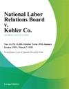 National Labor Relations Board V Kohler Co