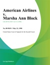 American Airlines V Marsha Ann Block