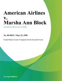AMERICAN AIRLINES V. MARSHA ANN BLOCK