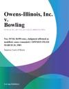 Owens-illinois Inc V Bowling