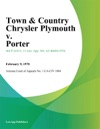 Town  Country Chrysler Plymouth V Porter
