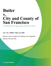 Butler V. City And County Of San Francisco