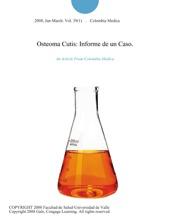 Osteoma Cutis: Informe De Un Caso.