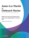 James Lee Martin V Outboard Marine