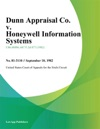 Dunn Appraisal Co V Honeywell Information Systems