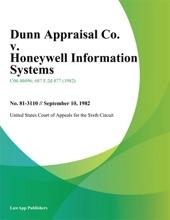 Dunn Appraisal Co. V. Honeywell Information Systems