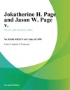 Jokatherine H Page And Jason W Page V