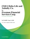 TU Delta Life And Annuity Co V Freeman Financial Services Corp