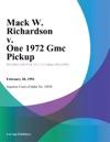 Mack W Richardson V One 1972 Gmc Pickup