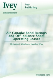 Air Canada Bond Ratings And Off Balance Sheet Operating Leases