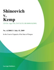Download and Read Online Shineovich v. Kemp