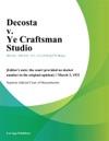 Decosta V Ye Craftsman Studio