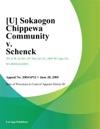 U Sokaogon Chippewa Community V Schenck