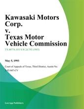 Kawasaki Motors Corp. v. Texas Motor Vehicle Commission