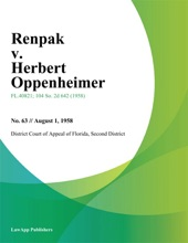 Renpak V. Herbert Oppenheimer