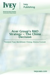 Acer Groups RD Strategy - The China Decision
