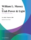 William L Massey V Utah Power  Light