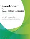 Samuel-Bassett V Kia Motors America