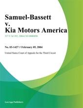 Samuel-Bassett V. Kia Motors America