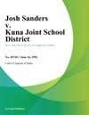 061694 Josh Sanders V Kuna Joint School District